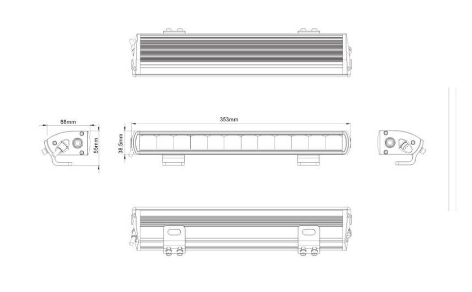 LightBar - mit Straßenzulassung  60W